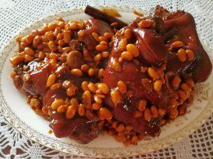 红烧猪蹄黄豆的做法图解7