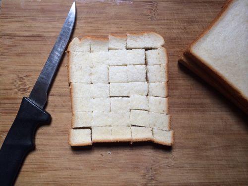 面包布丁{快手下午茶}的做法图解1