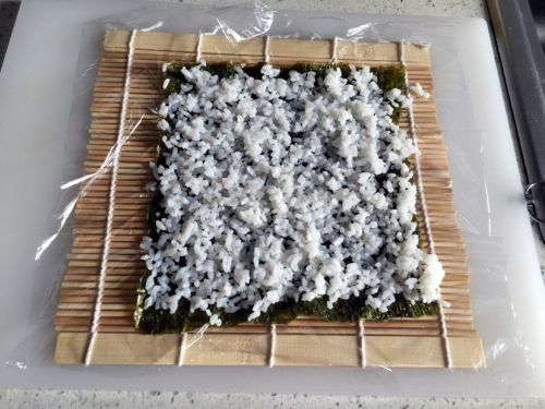 反卷寿司的做法图解3
