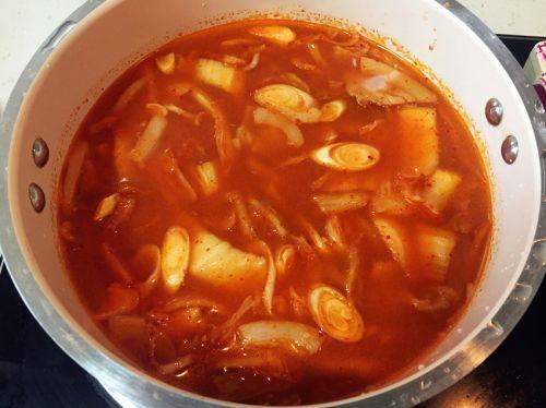 韩式辣白菜汤的做法图解5