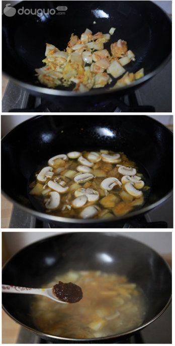 韩式泡菜海鲜锅的做法图解2