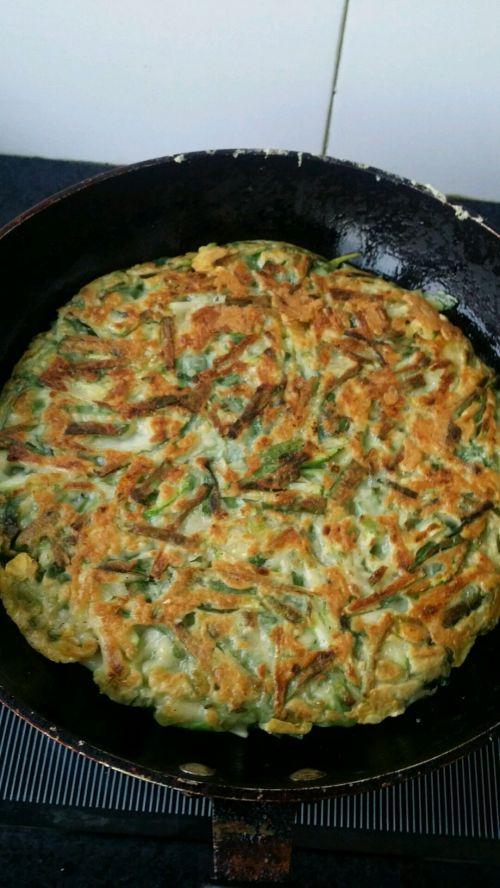韩式蔬菜煎饼的做法图解8