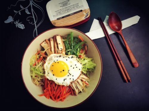 韩式拌饭的做法图解5