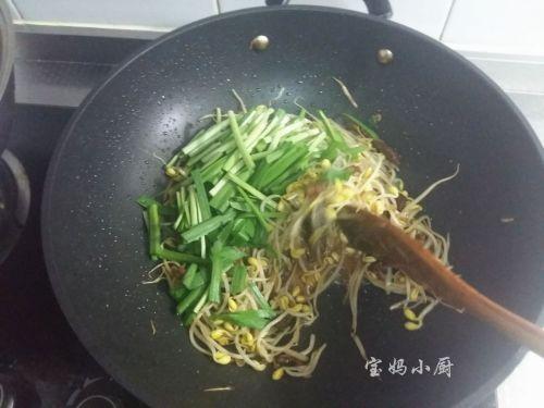 黄豆芽炒韭菜的做法图解7