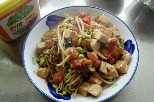 酱香豆芽豆腐