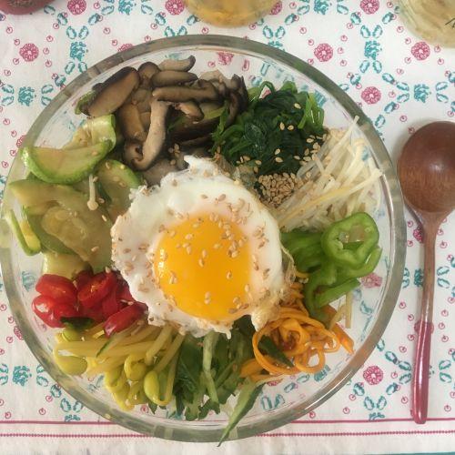 减肥版韩式拌饭的做法图解7