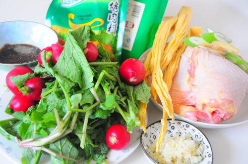 烧烤味三黄鸡大拌菜的做法图解1