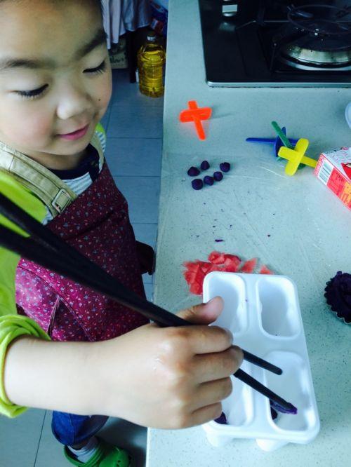 紫薯西瓜冰棍的做法图解3