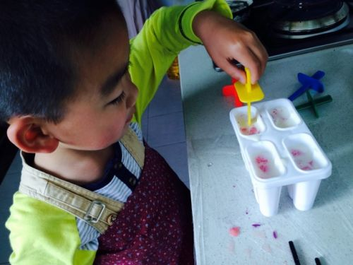 紫薯西瓜冰棍的做法图解5