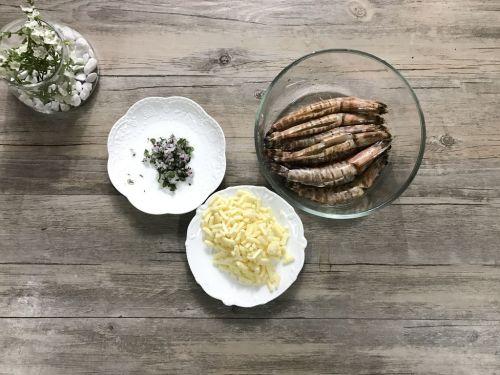 迷迭香芝士烤对虾的做法图解4