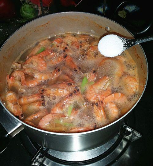 盐水对虾的做法图解6