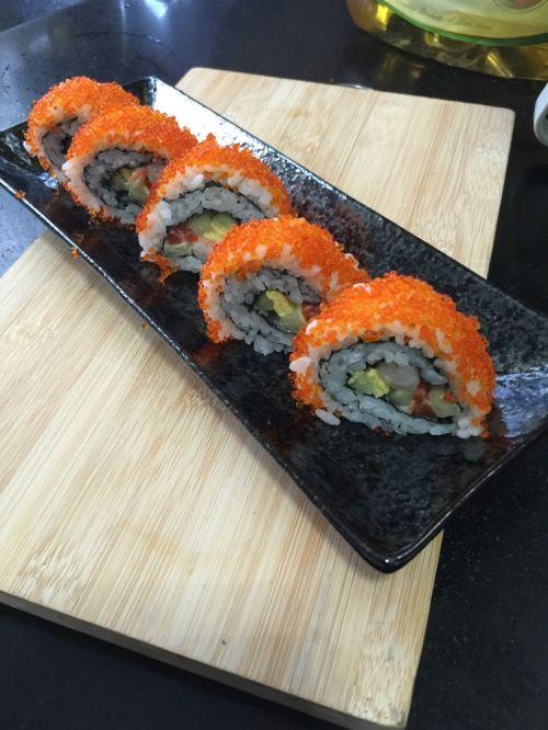 鲜虾反卷寿司的做法图解10