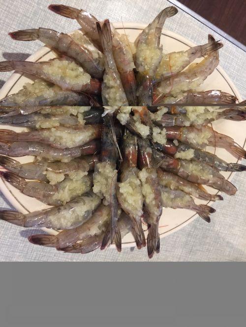 蒜蓉开边虾的做法图解5