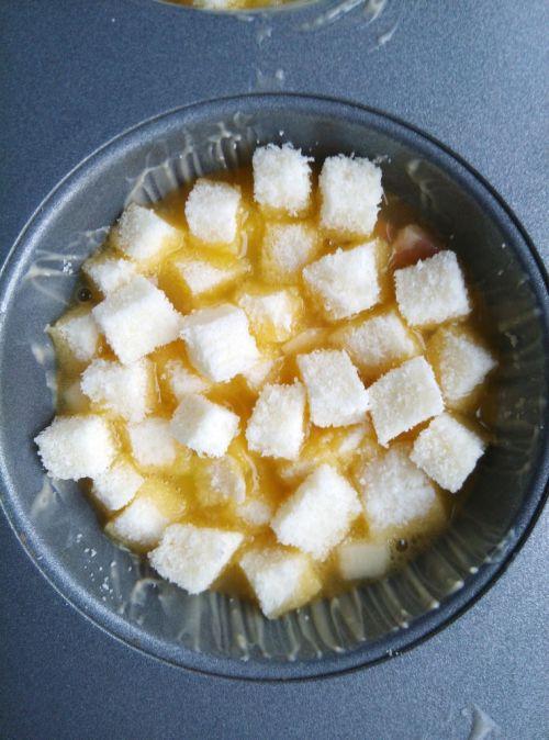 早餐-芝士流心馒头布丁的做法图解6