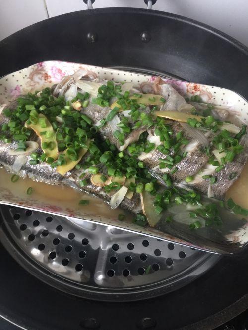 葱油海鲈鱼的做法图解2