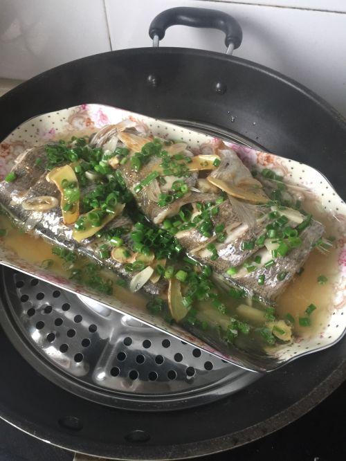 葱油海鲈鱼的做法图解6