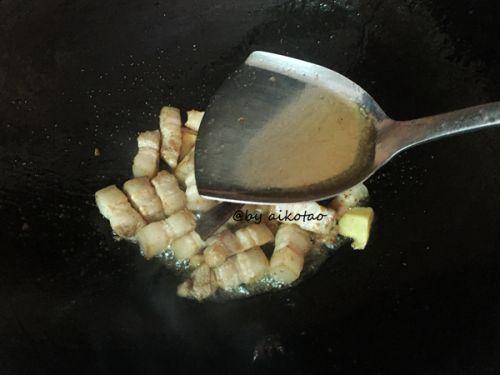 油豆腐烧回锅肉的做法图解5