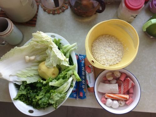 火锅料老干妈焖饭的做法图解1