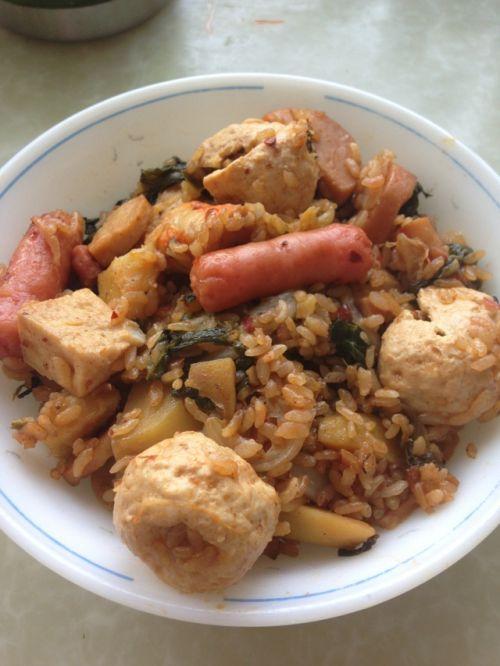 火锅料老干妈焖饭的做法图解10