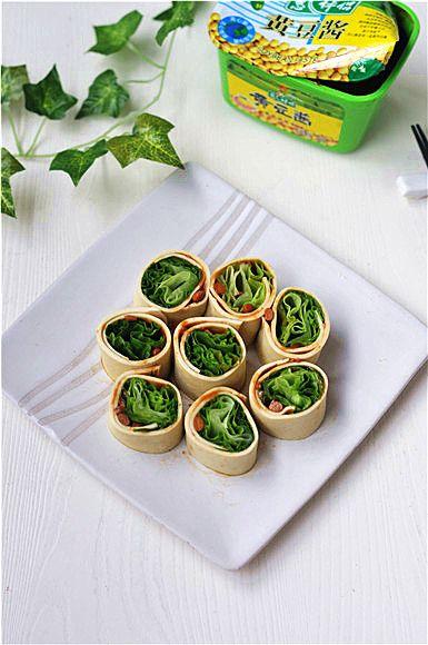 豆皮生菜卷的做法图解5