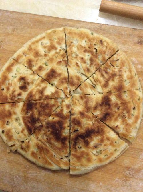发面起酥葱花大饼的做法图解8