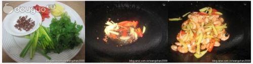 干锅土豆香辣虾的做法图解3