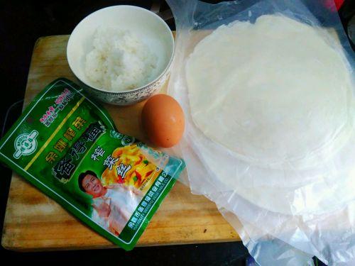 手抓饼版米饭蛋饼的做法图解1