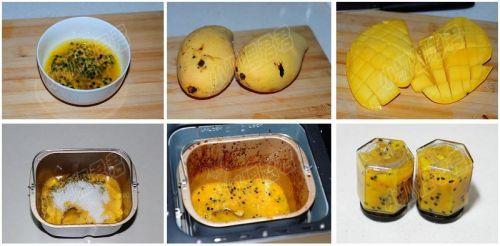 面包机版百香芒果酱的做法图解1
