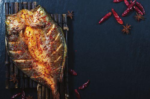 花雕烤黄鱼