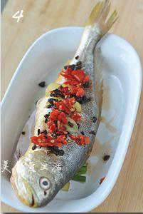 豉椒鲜蒸大黄鱼的做法图解4