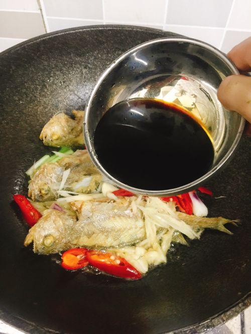 红烧小黄鱼的做法图解7