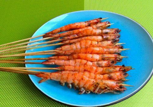 烧烤串串虾的做法图解5