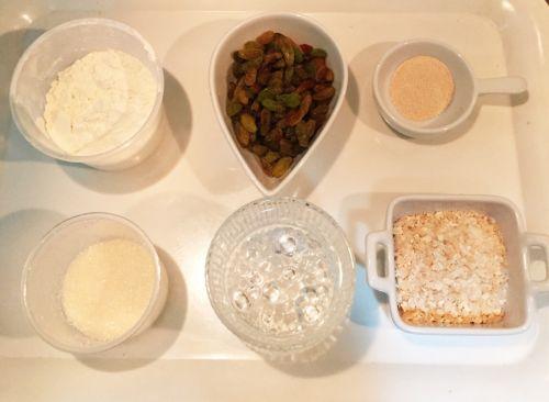 葡萄干燕麦发糕的做法图解1