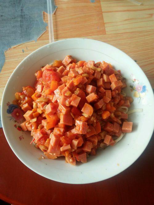 番茄炸酱面的做法图解6
