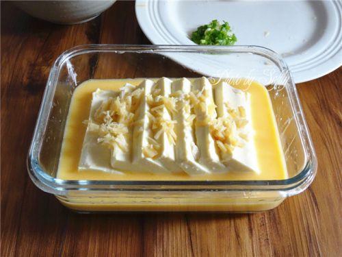 瑶柱嫩豆腐蒸水蛋的做法图解10