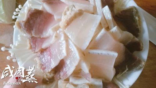 咸肉蒸的做法图解5