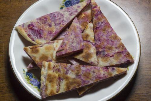 玉米发面紫薯饼的做法图解7