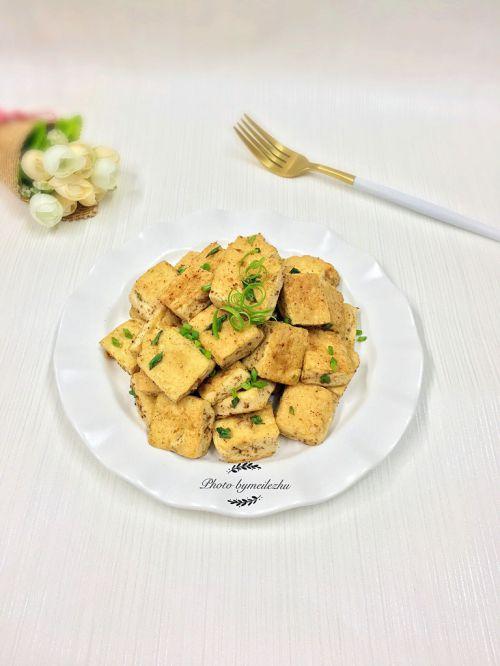 孜然葱花豆腐的做法图解6