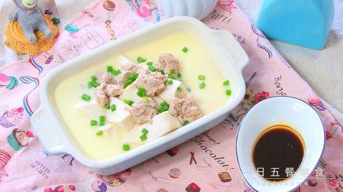 猪肉豆腐蒸水蛋的做法图解7