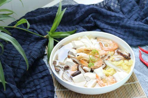 娃娃菜煮豆腐汤的做法图解7