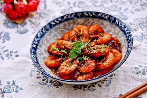 二三子shi老师在家常美食网分享茄汁大虾的做法,教你怎么做茄汁大虾图片