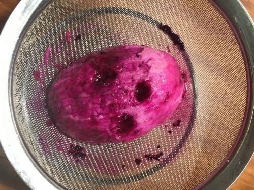 火龙果溶豆的做法图解4