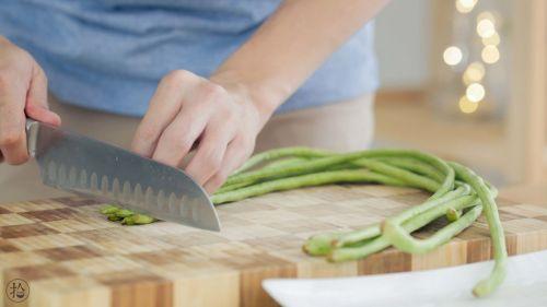 花环豇豆酿肉的做法图解5