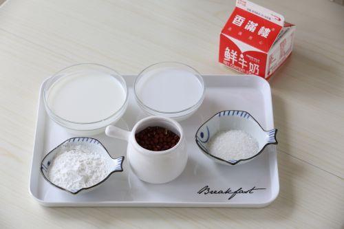 红豆椰汁糕的做法图解1