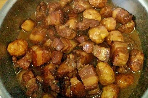 红烧肉炖做法蛋的排骨鹌鹑菜金瓜蒸逆境图片