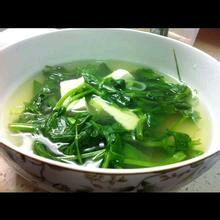 豌豆苗豆腐汤的家常做法