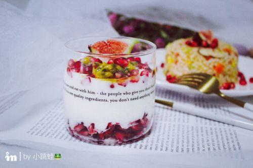 石榴百香果酸奶杯的做法图解9