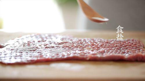 香蒜小番茄牛排卷的做法图解2