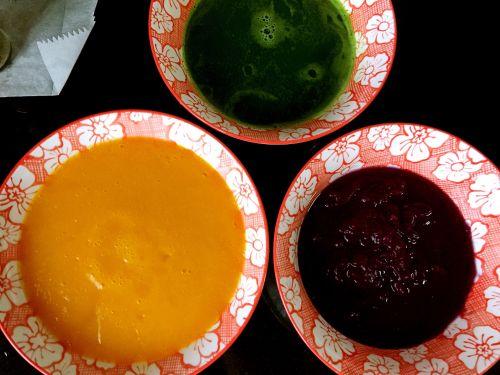 三色蔬菜发糕的做法图解3