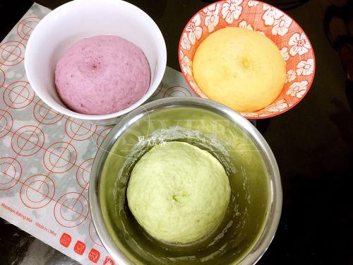 三色蔬菜发糕的做法图解5